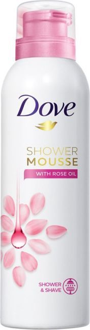 Dove  Shower Mousse With Rose Oil Mus do mycia ciała 200 ml 1