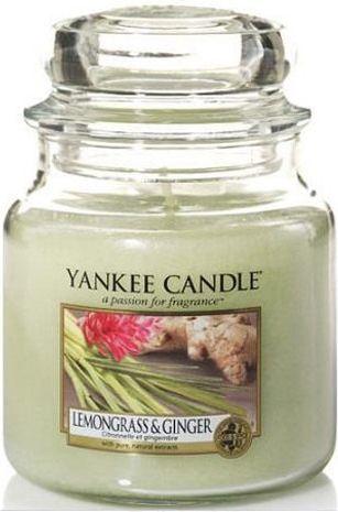 Yankee Candle Classic Medium Jar świeca zapachowa Lemongrass & Ginger 411g 1