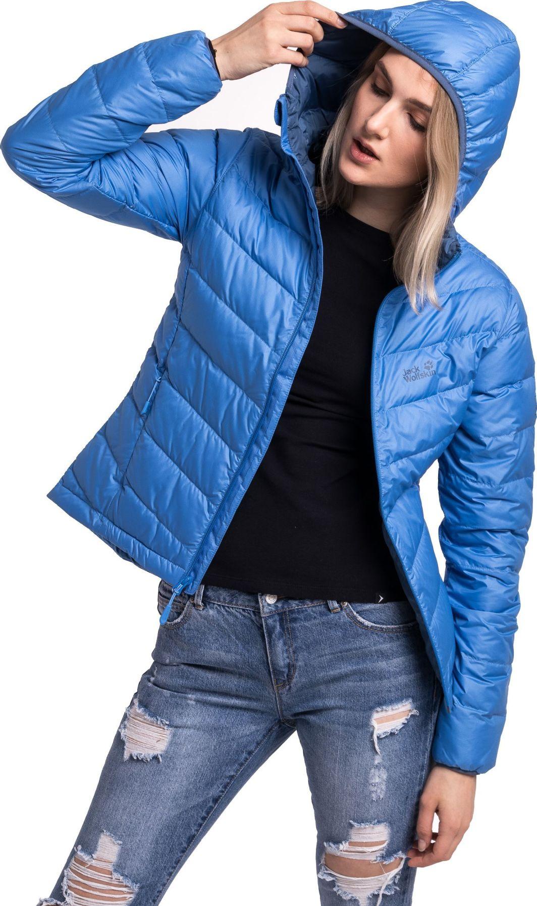 wyprzedaż hurtowa brak podatku od sprzedaży nowe tanie Jack Wolfskin Kurtka damska Helium Women zircon blue r. L ID produktu:  4648395