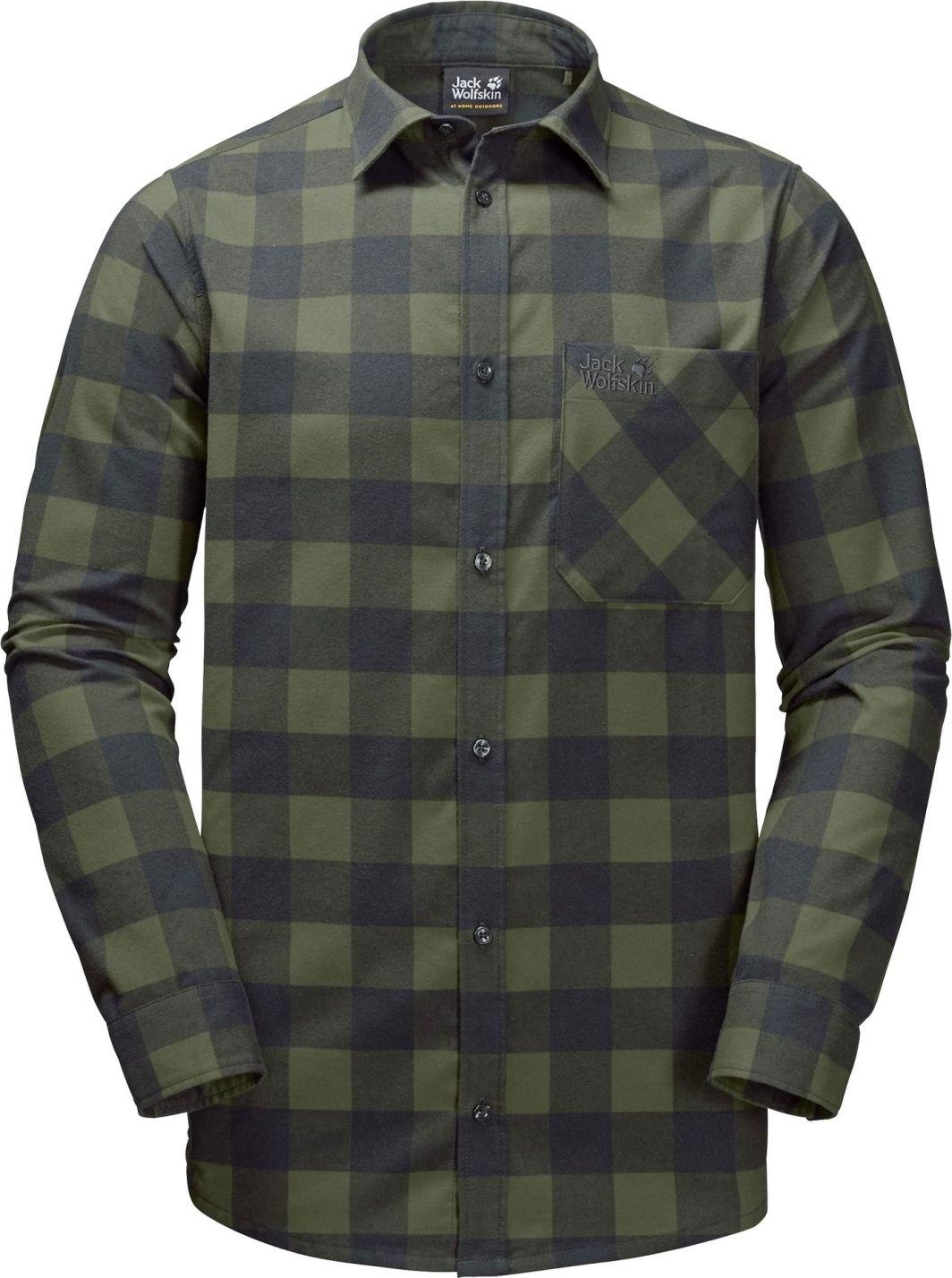 bardzo popularny najlepsza moda najnowsza kolekcja Jack Wolfskin Koszula męska Red River Shirt zielona r. XL ID produktu:  4648423