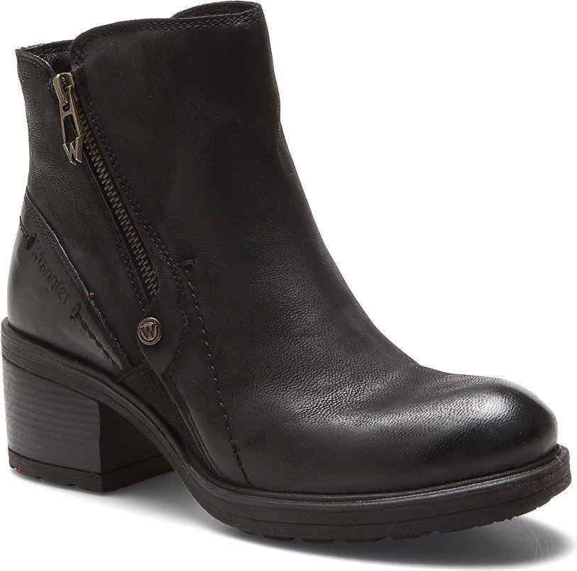 Wrangler Botki damskie Vail Zip czarne r. 38 (WF1336101) 1