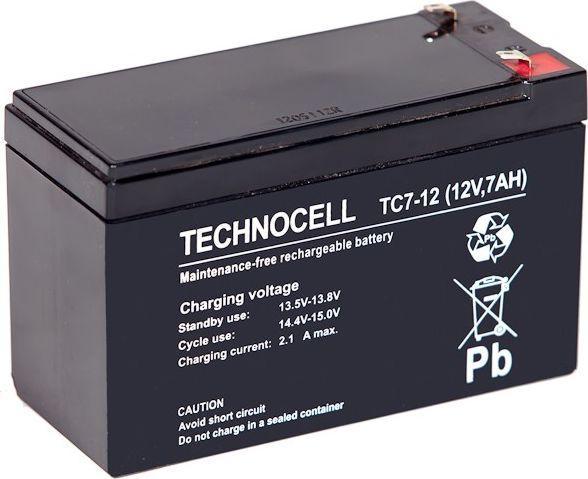TECHNOCELL Akumulator bezobsługowy AGM 1,2Ah 12V 1