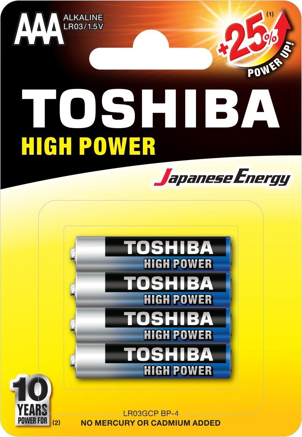 Toshiba Bateria High Power AAA / R03 4szt. 1