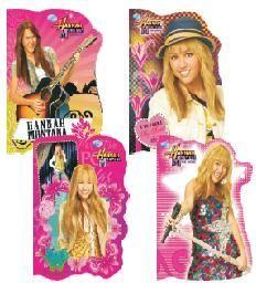 Derform Notatniki (notesy) Derform Hannah Montana kształtowy A6 poddruk 30 1