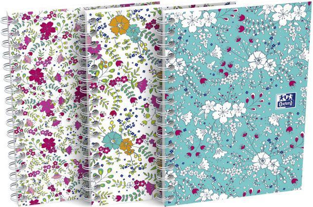Oxford Notatnik Oxford Floral 2 spirale A6 50kartkowy 90g k5x5 1