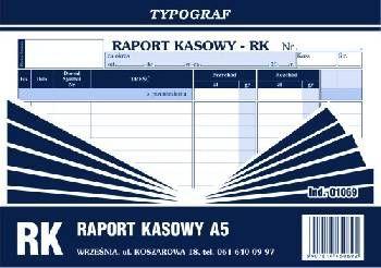 Typograf Raport kasowy A5 (01069) 1