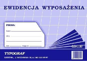 Typograf Druk ewidencja wyposażenia A5 (480150 1