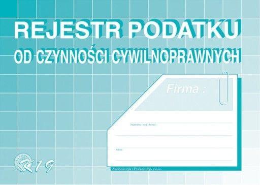 Typograf Druki samokopiujące rejestr podatku od czynności cywilnoprawnych A5 (48022) 1