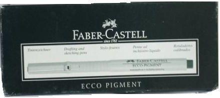 Faber-Castell Cienkopis Pigment 0,5mm 10szt czarny 1