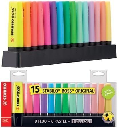 Maped Zakreślacz Boss zestaw 15 kolorów STABILO 1