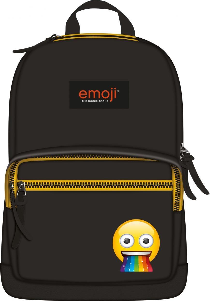 St. Majewski Plecak 1-komorowy Emoji czarny 1