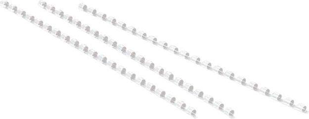Staples Grzbiety do bindowania, plastikowe, 8mm, białe, opakowanie 100 szt. (PD0050) 1