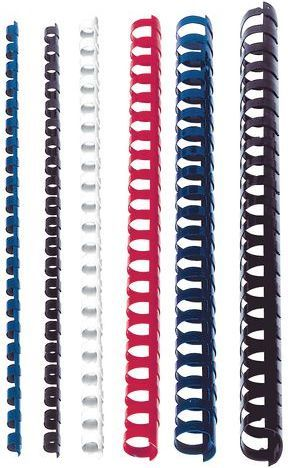 Staples Grzbiety plastikowe do bindowania 6mm biały, opakowanie 25 sztuk (C80036) 1
