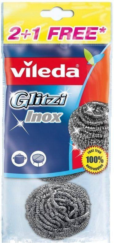 Vileda Zmywak stalowy Glitzi Spiral INOX 2+1 (105177) 1