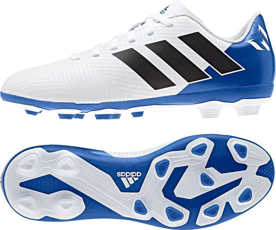 Adidas Buty piłkarskie Nemeziz Messi 18.4 FG biało niebieskie r. 35 (DB2369) ID produktu: 4674077