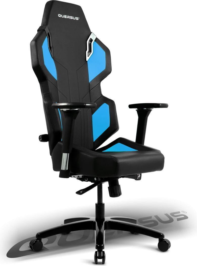 Fotel Quersus Evos 302 Czarno-niebieski 1