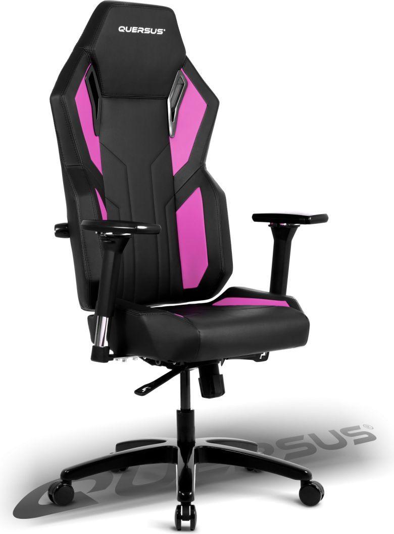 Fotel Quersus Vaos 502 Czarno-różowy 1