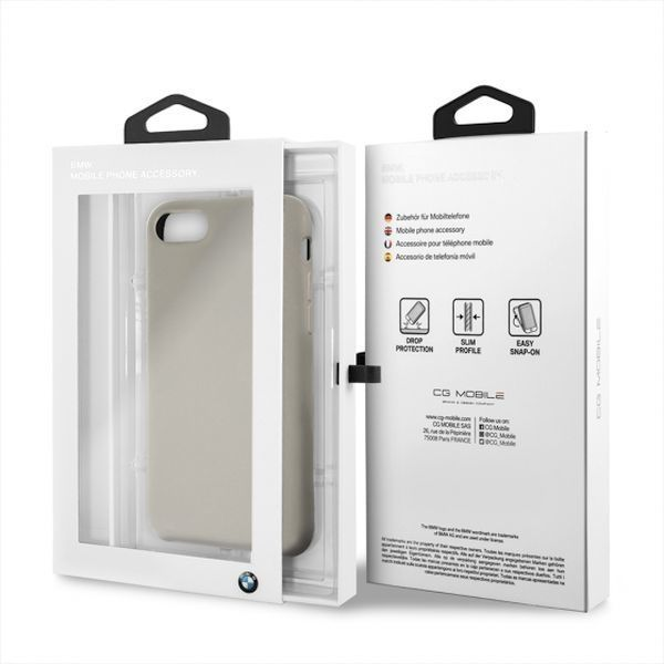 BMW Etui hardcase BMW BMHCI8SILTA iPhone 7/8 beżowy/taupe Silicone 1