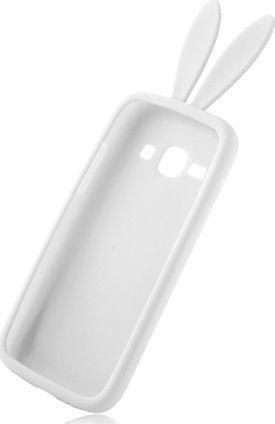 Etui Silikon 3D i9500 Uszy Królika biały 1