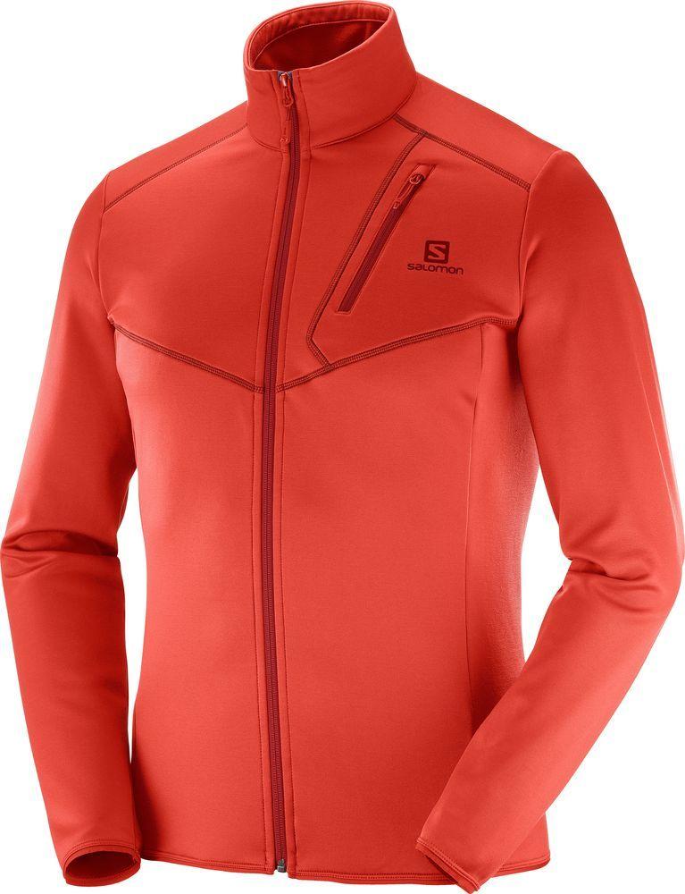 Salomon Bluza męska Discovery FZ M Fiery Red r. XL (400941) ID produktu: 4691639