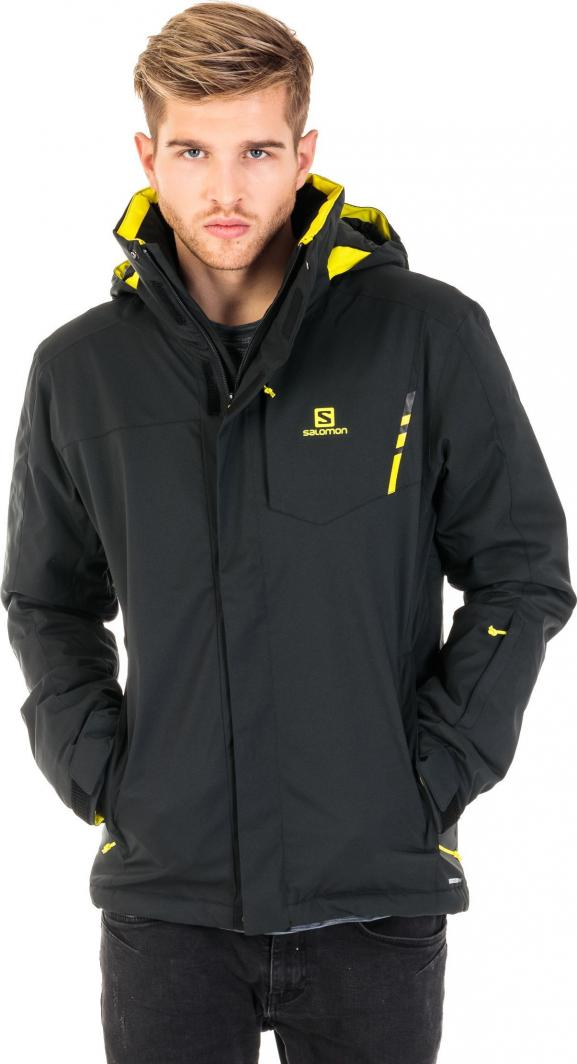 kurtka narciarska męska stormpunch salomon czarna