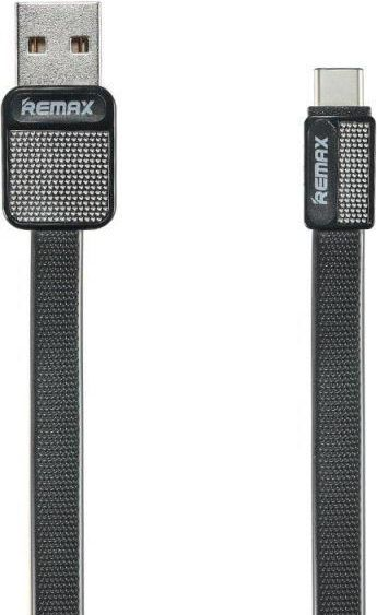Kabel USB Remax Kabel Remax RC-044m Platinum USB - USB C Metal Czarny 1