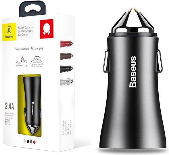 Ładowarka Baseus Baseus Ładowarka Samochodowa 2x USB 2.4A 1