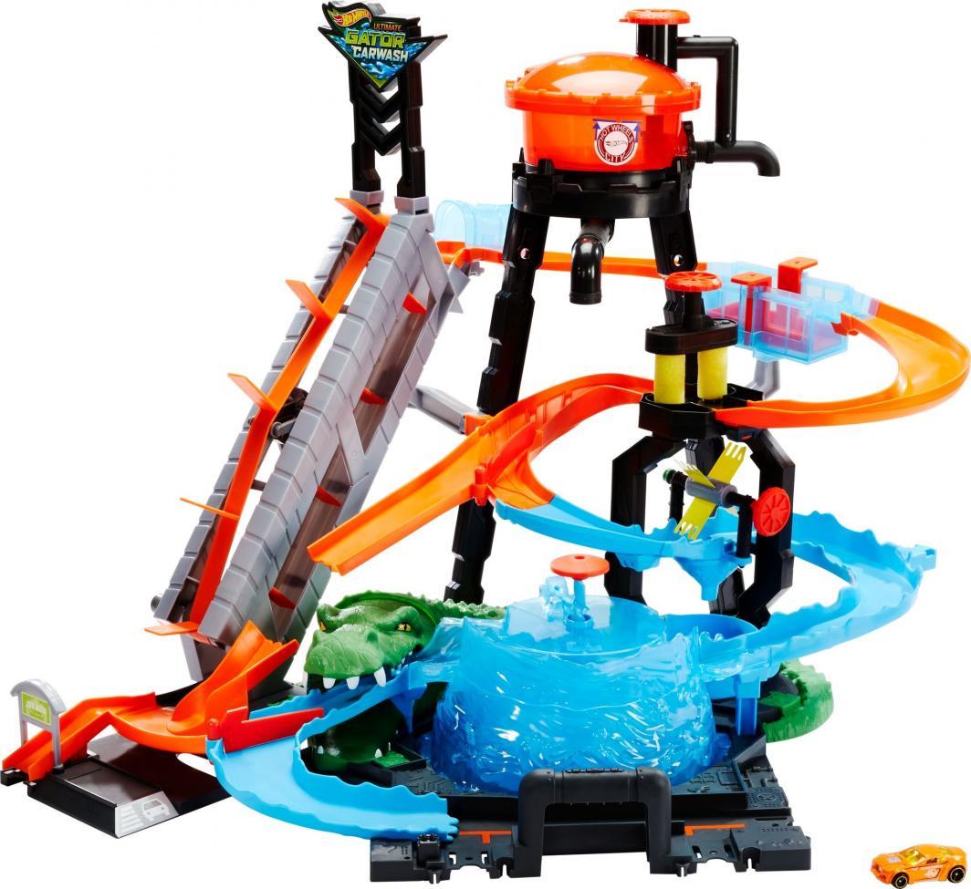 Hot Wheels City Color Shifers Mega Myjnia Atak krokodyla (FTB67) 1