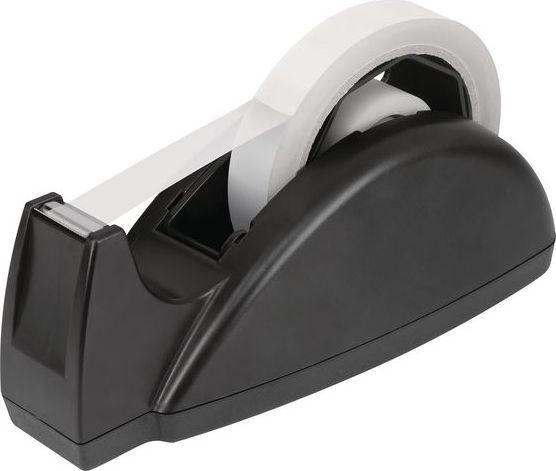 Staples STAPLES Podajnik na biurko do taśmy klejącej 25mm x 66m, czarny 1