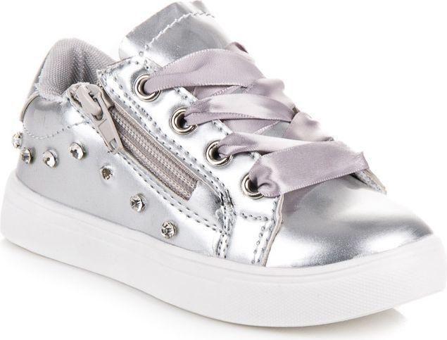 Merg Buty dziecięce ze wstążką Mafuane srebrne r. 26 (74891) ID produktu: 4706028