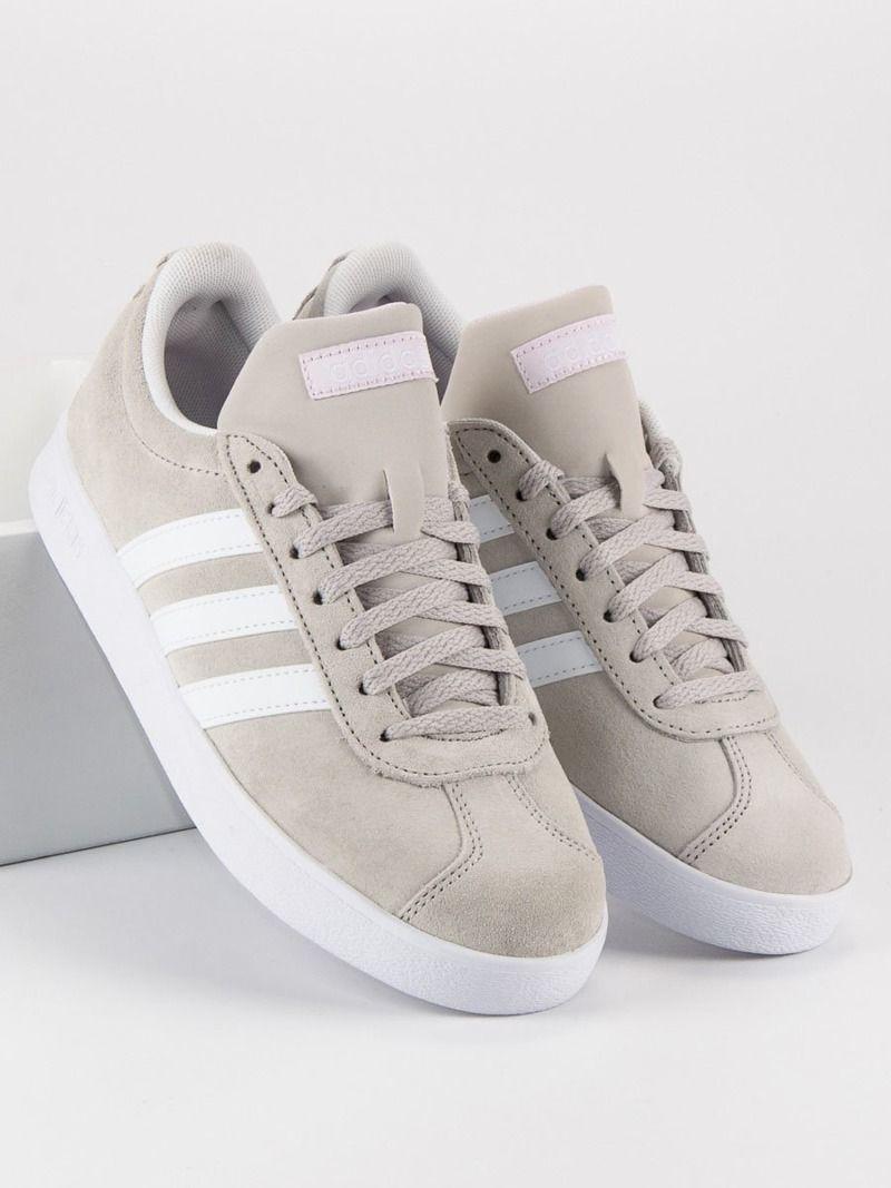 4b1a657a Adidas Buty damskie VL Court szare r. 37 1/3 (DA9888) w Sklep-presto.pl