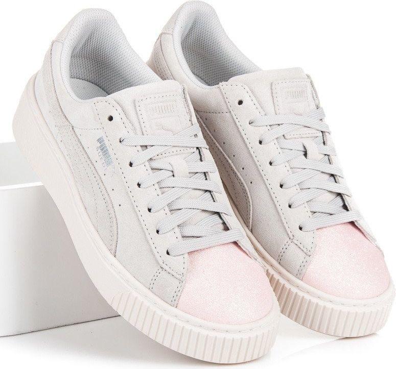 Puma Buty dziecięce Suede Platform Glam Jr białe r. 38 ID produktu: 4712365