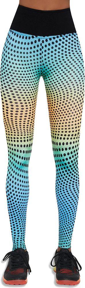 Bas Black Legginsy damskie Wave 90 niebiesko-żółte r. S (BB12583) 1