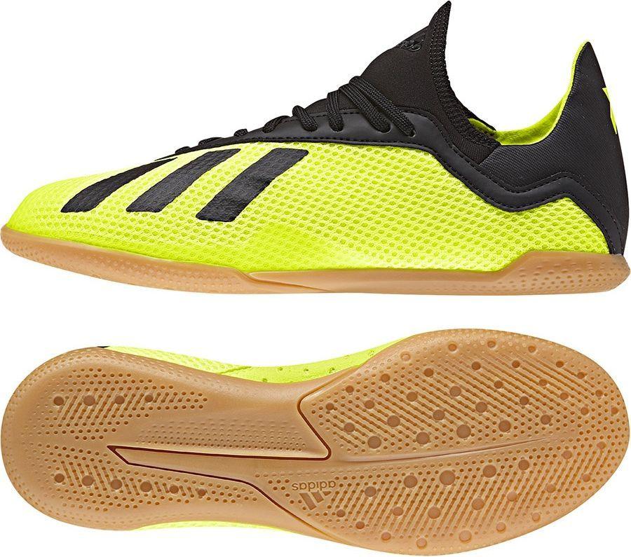 Buty Adidas X TANGO 18.3 IN J DB2426 Limonkowe 38