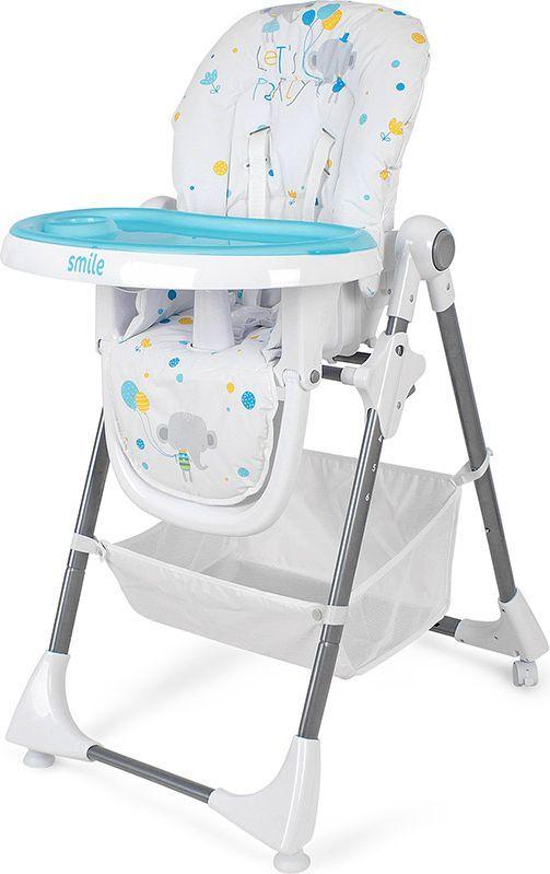 Krzesełko do karmienia Smile niebieskie ID produktu: 4722324