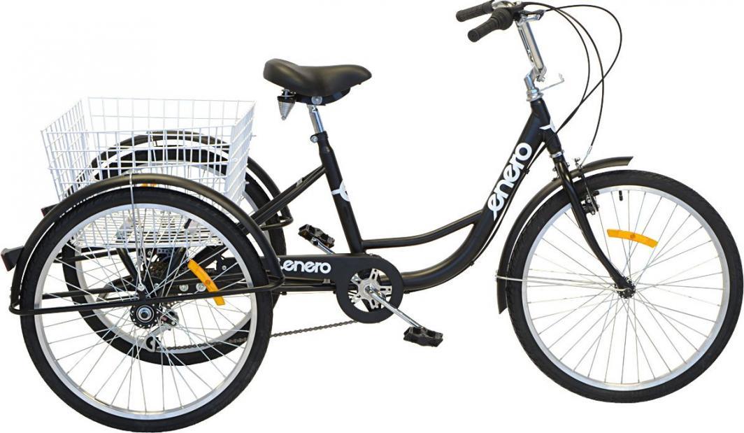 """Enero Rower 3-kołowy 24"""" rehabilitacyjny 6-biegowy czarny 1"""