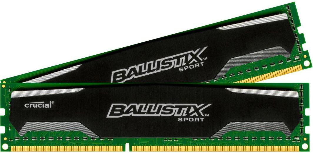 Pamięć Ballistix Ballistix Sport, DDR3, 16 GB, 1600MHz, CL9 (BLS2CP8G3D1609DS1S00CEU) 1