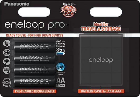 Panasonic Akumulator Eneloop Pro AA / R6 2500mAh 4szt. + Pudełko 1