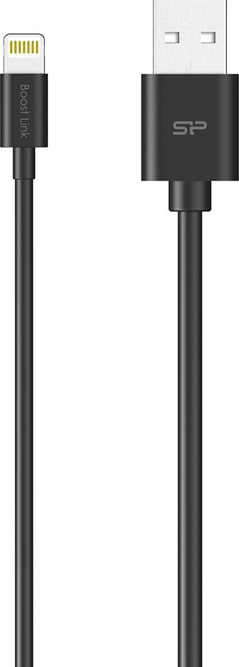 Kabel USB Silicon Power Silicon Power Kabel USB - Lightning, Boost Link LK10AL, 1M, Czarny, Bulk 1
