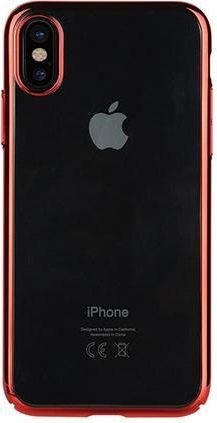 Benks Etui Electroplating TPU Apple iPhone X - Czerwony 1