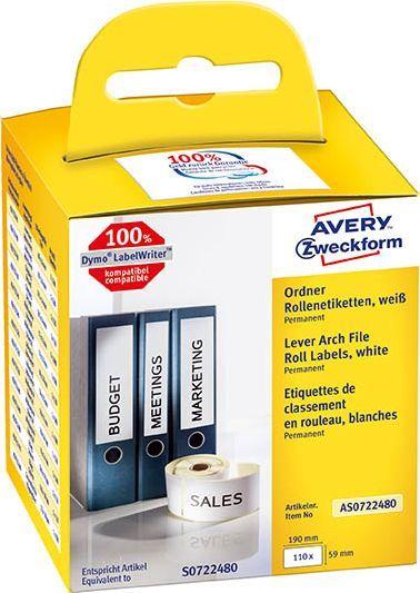 Avery Zweckform Etykiety na sergregatory w rolce do termodruku 59 x 190 mm 1