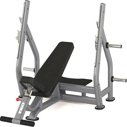TKO STRENGTH & PERFORMANCE INC. Ławka olimpijska Incline Bench szara (986IB) 1