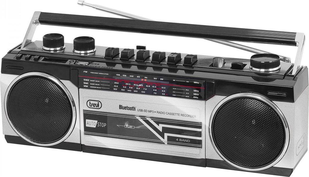 Radioodtwarzacz Trevi Boombox Trevi RR501 kaseta/BL/USB/SD silver 1