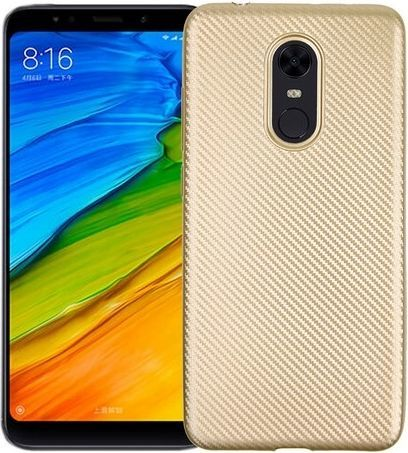 Etui Carbon Fiber Xiaomi Redmi 5 Plus złoty/gold 1