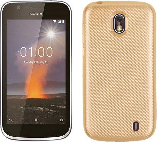 Etui Carbon Fiber Nokia 1 złoty/gold 1