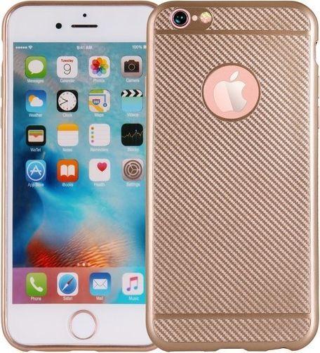 Etui Carbon Fiber iPhone 7 złoty/gold 1