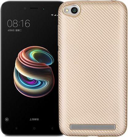 Etui Carbon Fiber Xiaomi Redmi 5A złoty /gold 1