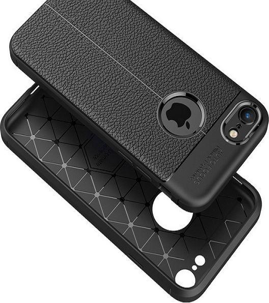 Etui Grain Leather iPhone 8 czarny/black 1