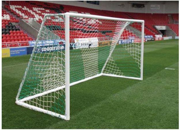 Domeks Siatka Do Piłki Nożnej Młodzieżowa 5x2m Kolorowa 1