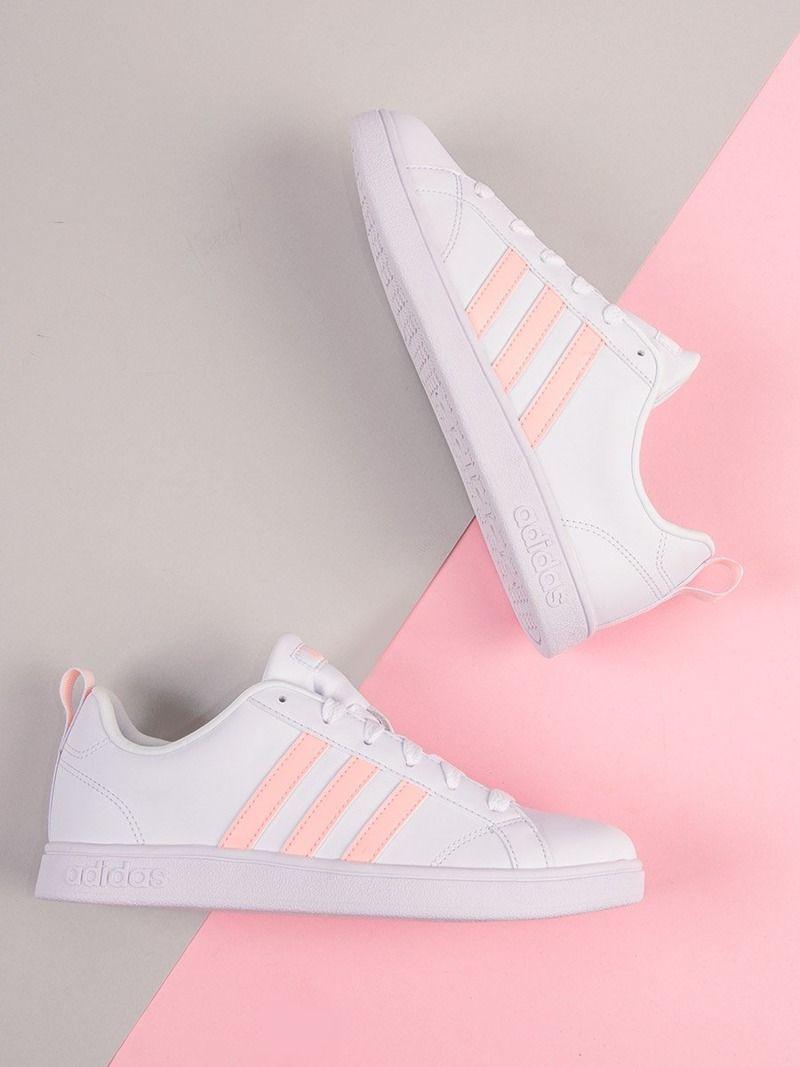 Biało różowe buty Adidas